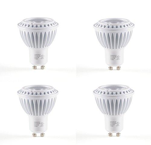 4-Pack Of Hyperikon® Mr16 Gu10, Led 7-Watt (50-Watt Replacement), 4000K (Daylight), 490Lm, 120 Volt, Wide Flood Light Bulb, Dimmable, Ul-Listed