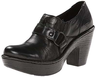 New Born Dollie Platform Clog Black Ladies 8