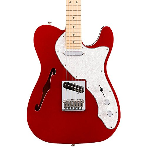 Fender Deluxe Telecaster Thinline Electric Guitar, Maple Fingerboard, Candy Apple Red (Fender Electric Guitar Deluxe compare prices)