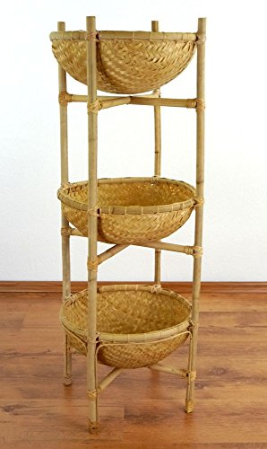 Bambusregale-mit-Krben-Obstkorb-und-Gemsekorb-Aufbewahrungskrbe-Badezimmerregal-Badezimmerkorb-34x34x100cm