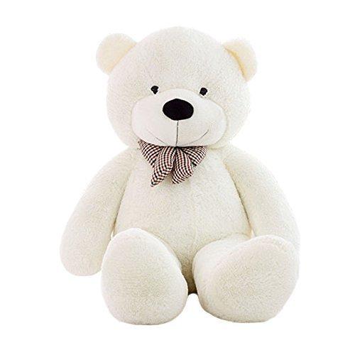 YING LAN Plush Stuffed Bear Soft Cotton Toy Doll White 40