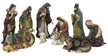 #!Cheap 11 Pieces Procelain Nativity Set