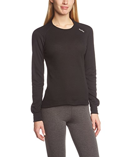 Odlo-Damen-Shirt-Long-Sleeve-Crew-Neck-Warm-Black-S-152021