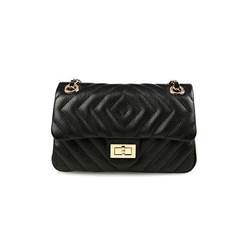dearwyw-women-genuine-cowhide-leather-diamond-quilted-pattern-cross-body-shoulder-mini-bag-black