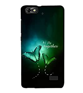 EPICCASE We Fly Together Mobile Back Case Cover For Xiaomi Redmi Mi4c (Designer Case)