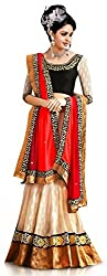 Royal Fashion MULTICOLOR DESIGNER LEHENGS CHOLI MATERIAL.