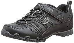 Skechers Kids 82831L Biker II -  Athletic Sneaker ,Old Black,12 M US Little Kid