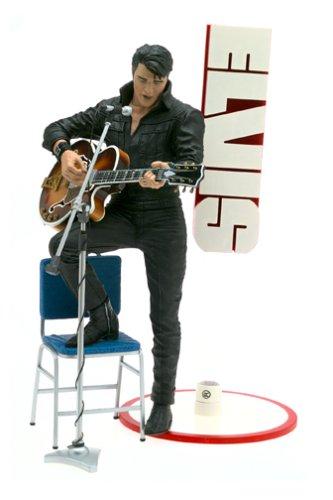 Buy Low Price McFarlane Elvis Presley – 12″ 68 Comeback Special Action Figure (B0002YB82I)