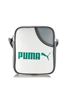 PUMA Shoulder Bag Campus Portable, 21 cm, white-limestone gray-green