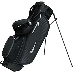 Nike Sport Lite Golf Stand Bag, Black/Silver