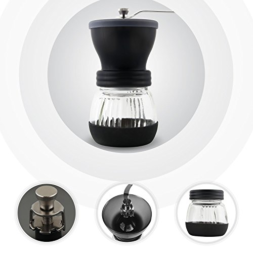 DECEN Manual Coffee Grinder Ceramic Burr Coffee Maker with Large Coffee Mill for Espresso Bean & French Press