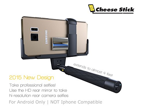Selfie Stick For Android with Remote Cell Phone Camera | Action Camera | Mirror | Bag | Secure Mount | Galaxy S8 S7 S6 S5 S4 Note POV Pole Camera Shooting with Shutter Button Monopod (Cheese Selfie Stick compare prices)