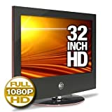 LG 32LG60 32-Inch 1080p LCD HDTV, Gloss Piano Black with Scarlet Red