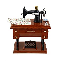 Imported Vintage Treadle Sewing Machine Mechanical Music Box