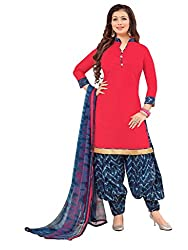 Women Icon Presents Pink Printed Un-Stitched Dress Material WICKFRPSP1414004