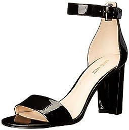 Nine West Women\'s Nora Synthetic Dress Sandal, Black, 11 M US
