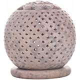 Christmas Gifts Natural Soapstone Oval-Shaped Tea Light / Candle / Votive Holder / Oil Burner