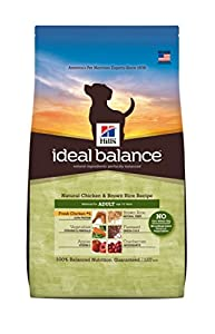 Hill's Ideal Balance Chicken and Brown Rice Recipe Adult Dog Dry Food Bag, 4-Pound