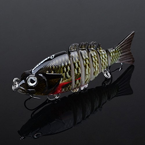 Fashion outlet 3.5″ High Lifelike Hard Plastic Fishing Lures 6 Segments Swimbait Hook