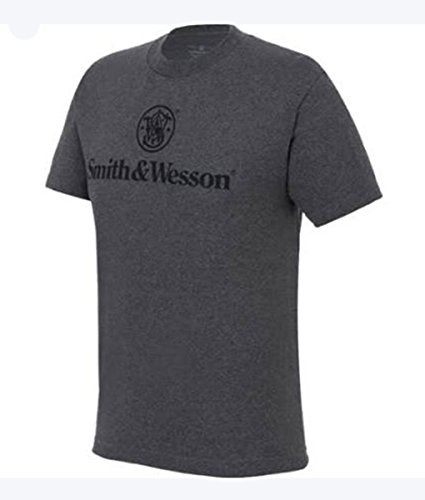 smith-wesson-logo-t-shirt-da-uomo-colore-carbone-melange-charcoal-heather-l