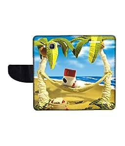 KolorEdge Printed Flip Cover For Samsung Galaxy Grand Prime Multicolor - (50KeMlogo09674SamS530)