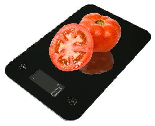 Imagen de American Weigh ONYX Delgado Escala de la cocina de diseño, 11-Pound por 0,1-Onza, Negro