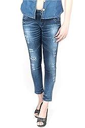 Indulge Women's Slim Fit Jeans (EJSTADB_Dark Blue_28)