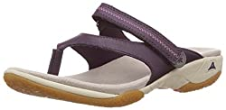 Clarks Womens Isna Slide Aubergine Flip-Flops and House Slippers - 4 UK