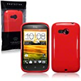 HTC Desire C TPU Gel Skin Case / Cover - Solid Redby TERRAPIN