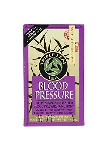 Triple Leaf Tea, Tea Bags, Blood Pressure, 1.06-Ounce Bags, 20-Count Boxes, Pack of 6