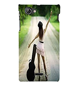 Perfect print Back cover for Sony Xperia J