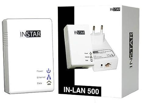 INSTAR IN-LAN 500p Adaptateur CPL avec prise de courant 500 Mbps Noir