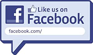Personalised Like us on Facebook - Standard Car/van bumper sticker or Window sticker