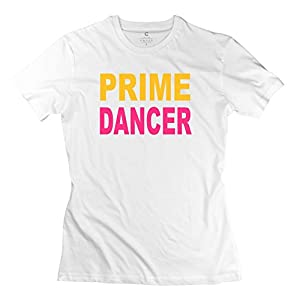 Prime Dancer Design T-shirts Women O-Neck White
