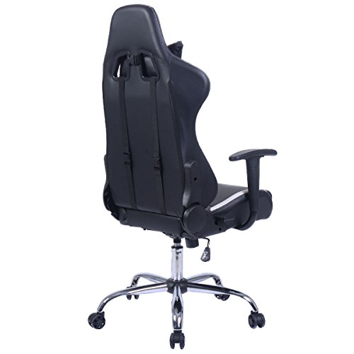 Admirable Giantex Black And White Gaming Chair Office Chair Race Ocoug Best Dining Table And Chair Ideas Images Ocougorg