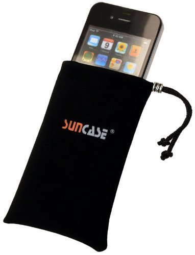 Suncase Handysocke fuer - Apple iPhone 3Gs (16GB - 32GB) / iPhone 3G (8GB - 16GB) Etui Tasche Socke Handytasche Schutzhuelle Huelle aus SAMTSTOFF