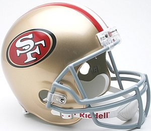 NFL San Francisco 49ers Deluxe Replica Football Helmet at Amazon.com