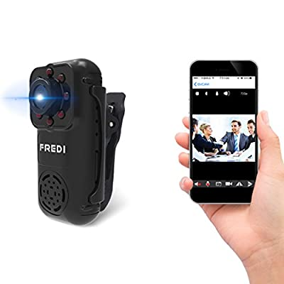 FREDI 720P Mini Portable Hidden Spy Camera Indoor / Outdoor Security WiFi Camera with IR Night Vision Motion Detection from Jinbaixun Technology