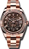 Rolex Rose Gold Sky-Dweller Model 326935 Chocolate Dial