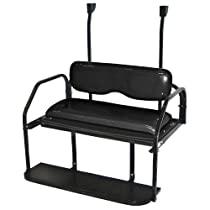 Club Car Precedent Golf Cart Rear Seat Kit Flip Flop Seat Kit - Black