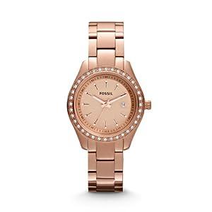 Fossil Damen-Armbanduhr XS Edelstahl beschichtet Analog Quarz ES3196
