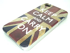 "IPHONE 4 / 4S - UNION JACK ""KEEP CALM and CARRY ON"" Hard Back / Cover / Case And Screen Protector Accessories for mobile phones by Oliviasphones"