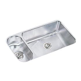 Elkay ELUH3219 Gourmet Lustertone Undermount Sink, Stainless Steel