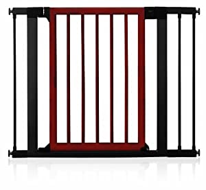 Munchkin Wood and Steel Designer Gate, Dark Wood/Silver (Discontinued by Manufacturer)