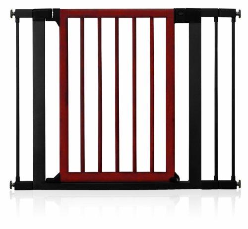Munchkin Wood and Steel Designer Gate, Dark Wood/Silver