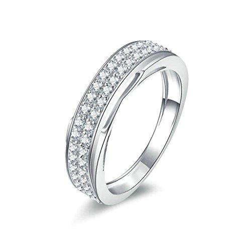 bagues de mariage adisaer bague argent 925 femme bague de fiancaille diamant zirconium. Black Bedroom Furniture Sets. Home Design Ideas