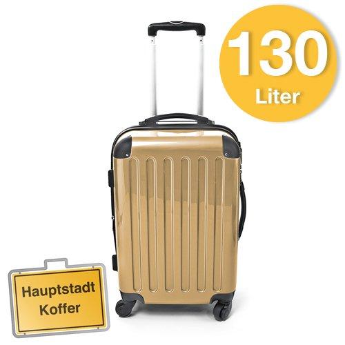 Hartschalen Koffer Champagner Hochglanz max.130