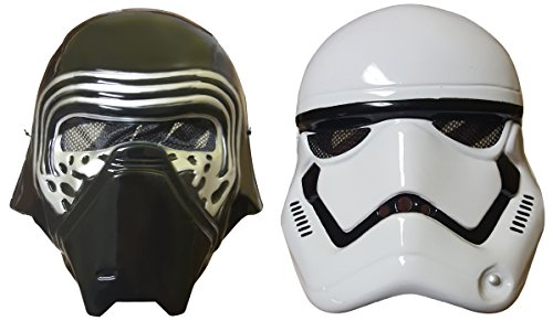 Star Wars Kylo Ren Mask and First Order Stormtrooper Mask 2-PACK Bundle (Stormtrooper Mask)