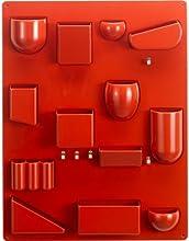 """Vitra 20129503 - Pannello portaoggetti """"Uten.Silo II"""", 680 x 520 x 65 mm, in plastica ABS, ganci in metallo, colore: Rosso"""