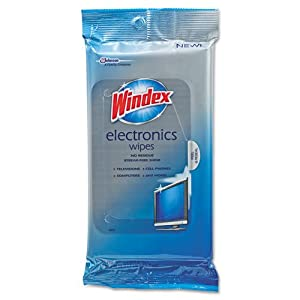Windex® - Electronics Cleaner, 25 Wipes - Sold As 1 Each - Gentle formula.